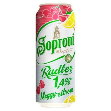 Soproni Radler Citrom-Meggy 0,5l DOB (1,4%)