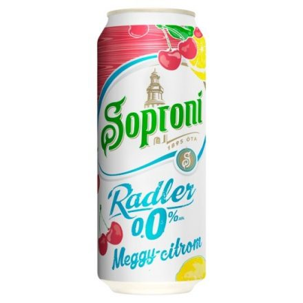 Soproni Radler Meggy-Citrom 0,5l DOB (0%)